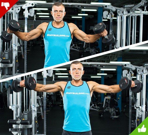 8 частых ошибок тренировки плеч и трапеций